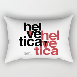 Suisse Swiss Helvetica Type Specimen Artwork in White Rectangular Pillow