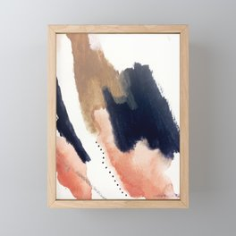 Drift Away [2] - a mixed media abstract piece in pink, brown, and purple Framed Mini Art Print