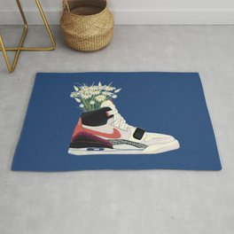 Sneaker and flower plant 1 legacy 312 Rug