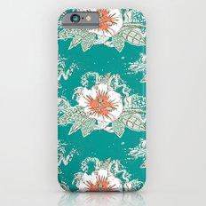 hibiscus surf retro Slim Case iPhone 6s