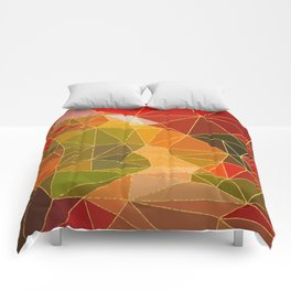 Autumn abstract landscape 6 Comforters