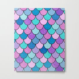 Sparkle Scales Metal Print
