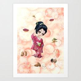 Omiyage régionaux - Regional omiyage Art Print