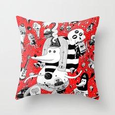 rot zeichentusche  Throw Pillow