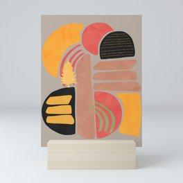 Modern shapes 2 Mini Art Print
