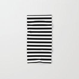 Black White Stripes Minimalist Hand & Bath Towel