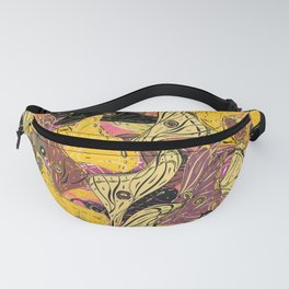 Butterfly Wings in Bold Yellow Fanny Pack