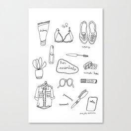 Her essentials Canvas Print