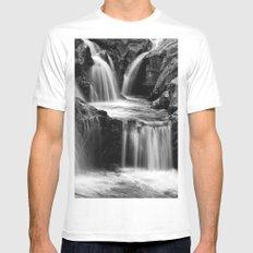 Waterfalls movement White Mens Fitted Tee MEDIUM