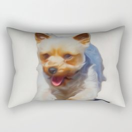 Poppy My Yorkie (Digital Art) Rectangular Pillow