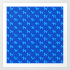 Dogs-Blue Art Print