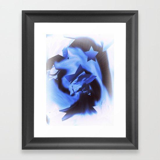 Starburts II cold blue Framed Art Print