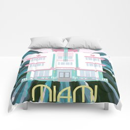 Miami Landmarks - McAlpin Comforters
