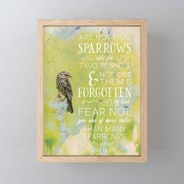 LUKE 12:6-7 Framed Mini Art Print