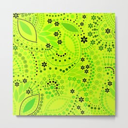 Green neon  , placer beads #neon #bright Metal Print