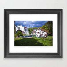 Lake Side Drive Framed Art Print