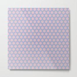 Silver and salmon elegant fabric pattern Metal Print