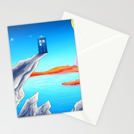 tardis space at starry night Stationery Cards