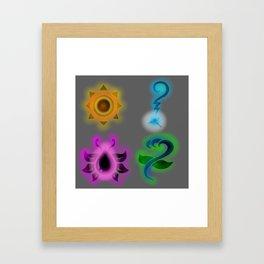 Marks of Heroes Framed Art Print