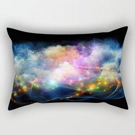 Space Clouds Rectangular Pillow