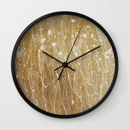gold spring Wall Clock