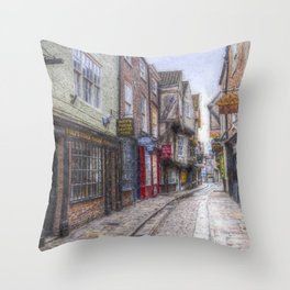 The Shambles York Art Throw Pillow