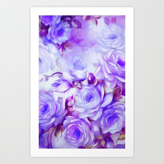 Shabby Chic Purple Art Print