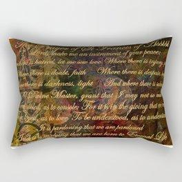The Prayer of St Francis of Assisi Rectangular Pillow