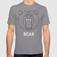 Bear Mens Fitted Tee MEDIUM Tri-Grey