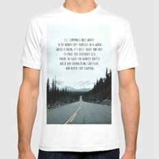 Quote for The Road Mens Fitted Tee MEDIUM White