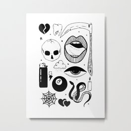 Flash page Metal Print