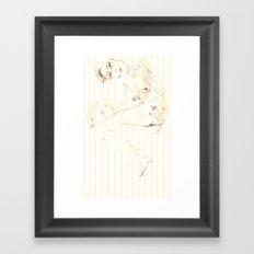 Nude 5 Framed Art Print