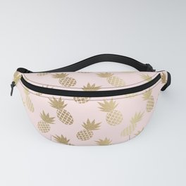Pink & Gold Pineapples Fanny Pack