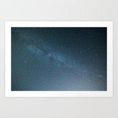 Milky Way Blue Art Print