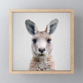 Kangaroo - Colorful Framed Mini Art Print
