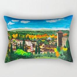 View from Boboli Rectangular Pillow