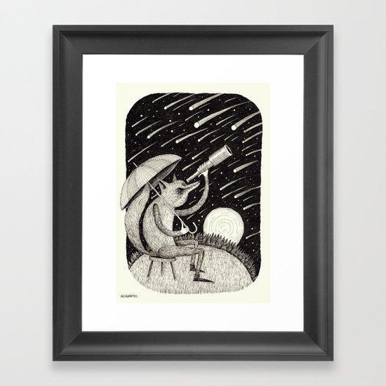 'Meteor Shower' Framed Art Print