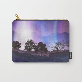 Lined Trees Carry-All Pouch