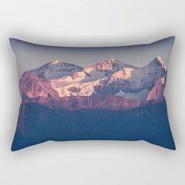 Three Peaks in Violet Sunset Rectangular Pillow