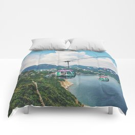Cliff side view Comforters