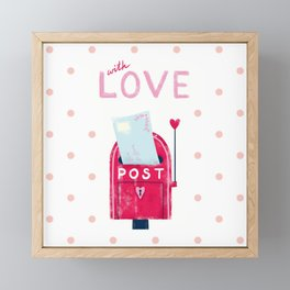 WITH LOVE Framed Mini Art Print