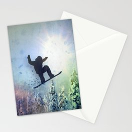 The Snowboarder: Air Stationery Cards