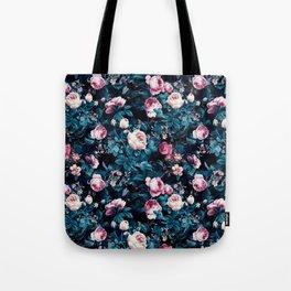 Roses Blue Tote Bag