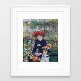 Two Sisters by Pierre-Auguste Renoir Framed Art Print