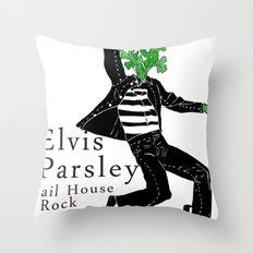 Elvis Parsley Throw Pillow