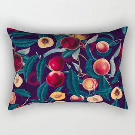 Nectarine and Leaf pattern Rectangular Pillow