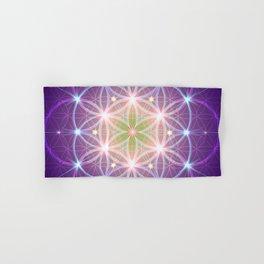 Purple Flower of Life Hand & Bath Towel