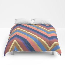 A different geometric zigzag pattern Comforters