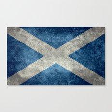 Flag of Scotland, Vintage Retro Style Canvas Print