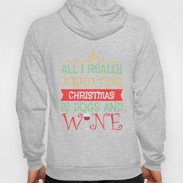 Wine Glass Christmas Dogs funny gift Hoody